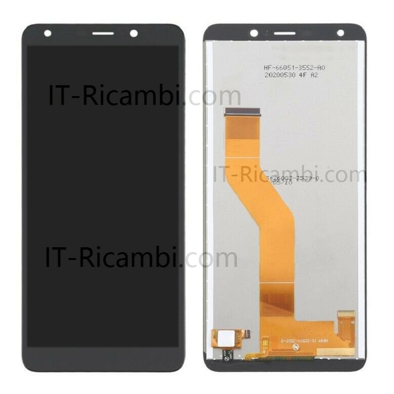 DISPLAY LCD + TOUCHSCREEN DISPLAY COMPLETO SENZA FRAME PER WIKO Y61 W-K560 NERO