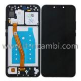DISPLAY LCD + TOUCHSCREEN DISPLAY COMPLETO + FRAME PER HUAWEI P SMART+ PLUS / NOVA 3I INE-LX1 INE-L21 NERO