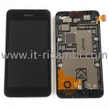 TOUCHSCREEN + DISPLAY LCD DISPLAY COMPLETO + FRAME PER NOKIA LUMIA 530 N530