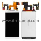 TOUCH + LCD DISPLAY COMPLETO SENZA FRAME PER MOTOROLA MOTO X STYLE XT1575 XT1572 BIANCO