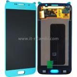 DISPLAY LCD + TOUCHSCREEN DISPLAY COMPLETO SENZA FRAME PER SAMSUNG GALAXY S6 G920F BLU CHIARO ORIGINALE