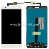 DISPLAY LCD + TOUCHSCREEN DISPLAY COMPLETO SENZA FRAME PER ZTE BLADE V7 5.2 BIANCO