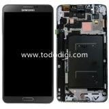 TOUCHSCREEN + DISPLAY LCD DISPLAY COMPLETO + FRAME PER SAMSUNG GALAXY NOTE 3 N9005 GRIGIO