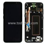 TOUCHSCREEN + DISPLAY LCD DISPLAY COMPLETO + FRAME PER SAMSUNG GALAXY S8 PLUS S8+ G955F NERO ORIGINALE
