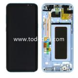 TOUCHSCREEN + DISPLAY LCD DISPLAY COMPLETO + FRAME PER SAMSUNG GALAXY S8 PLUS S8+ G955F BLU ORIGINALE