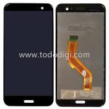 TOUCHSCREEN + DISPLAY LCD DISPLAY COMPLETO SENZA FRAME PER HTC U11 NERO