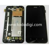 DISPLAY LCD + TOUCHSCREEN DISPLAY COMPLETO + FRAME PER ASUS ZENFONE GO ZB552KL 5.5 X007D NERO