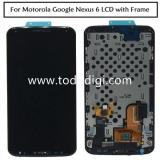 DISPLAY LCD + TOUCHSCREEN DISPLAY COMPLETO + FRAME PER MOTOROLA GOOGLE NEXUS6 NEXUS 6 XT1100 NERO
