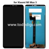 DISPLAY LCD + TOUCHSCREEN DISPLAY COMPLETO SENZA FRAME PER XIAOMI MI MAX 3 NERO