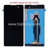 DISPLAY LCD + TOUCHSCREEN DISPLAY COMPLETO SENZA FRAME PER SONY XPERIA E5 F3311 F3313 NERO