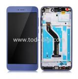 DISPLAY LCD + TOUCHSCREEN DISPLAY COMPLETO + FRAME PER HUAWEI P8 LITE 2017 BLU