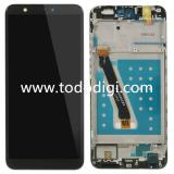 TOUCHSCREEN + DISPLAY LCD DISPLAY COMPLETO + FRAME PER HUAWEI P SMART / ENJOY 7S FIG-L31 NERO