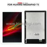 TOUCHSCREEN + DISPLAY LCD DISPLAY COMPLETO SENZA FRAME PER HUAIWEI MEDIAPAD T5 10 AGS2-L03 AGS2-W09 LTE WIFI BIANCO