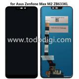 TOUCHSCREEN + DISPLAY LCD DISPLAY COMPLETO SENZA FRAME PER ASUS ZENFONE MAX (M2) ZB633KL NERO