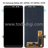 DISPLAY LCD + TOUCHSCREEN DISPLAY COMPLETO SENZA FRAME PER SAMSUNG GALAXY A8 PLUS A8+ (2018) A730F NERO ORIGINALE