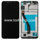 TOUCHSCREEN + DISPLAY LCD DISPLAY COMPLETO + FRAME PER HUAWEI Y6 2018 / HONOR 7A NERO ORIGINALE NEW