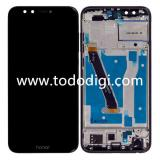 DISPLAY LCD + TOUCHSCREEN DISPLAY COMPLETO + FRAME PER HUAWEI HONOR 9 LITE DUAL SIM LLD-L31 NERO