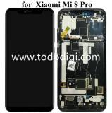 DISPLAY LCD + TOUCHSCREEN DISPLAY COMPLETO + FRAME PER XIAOMI MI 8 PRO NERO (SCHERMO IMPRONTE)