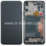 TOUCHSCREEN + DISPLAY LCD DISPLAY COMPLETO + FRAME PER HUAWEI P SMART Z STK-LX1 NERO