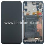 TOUCHSCREEN + DISPLAY LCD DISPLAY COMPLETO + FRAME PER HUAWEI P SMART Z STK-LX1 BLUE ORIGINALE