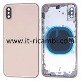 COVER POSTERIORE PER APPLE IPHONE XS 5.8 ORO