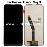 DISPLAY LCD + TOUCHSCREEN DISPLAY COMPLETO SENZA FRAME PER HUAWEI HONOR PLAY 3 NERO ORIGINALE