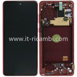 TOUCHSCREEN + DISPLAY LCD DISPLAY COMPLETO + FRAME PER SAMSUNG GALAXY NOTE 10 LITE N770F ROSSO ORIGINALE