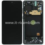 TOUCHSCREEN + DISPLAY LCD DISPLAY COMPLETO + FRAME PER SAMSUNG GALAXY NOTE 10 LITE N770F NERO ORIGINALE
