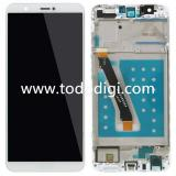 TOUCHSCREEN + DISPLAY LCD DISPLAY COMPLETO + FRAME PER HUAWEI P SMART / ENJOY 7S FIG-L31 BIANCO