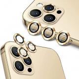 SET 3 PEZZI VETRO E SUPPORTO CAMERA PER APPLE IPHONE 12 PRO 6.1 ORO