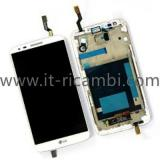 TOUCHSCREEN + DISPLAY LCD DISPLAY COMPLETO + FRAME PER LG OPTIMUS G2 D802 BIANCO