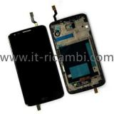 TOUCHSCREEN + DISPLAY LCD DISPLAY COMPLETO + FRAME PER LG OPTIMUS G2 D802 NERO