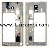 COVER CENTRALE B PER SAMSUNG GALAXY NOTE4 N910F BIANCO