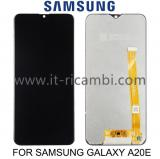 DISPLAY LCD + TOUCHSCREEN DISPLAY COMPLETO SENZA FRAME PER SAMSUNG GALAXY A20e A202F NERO