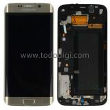 TOUCHSCREEN + DISPLAY LCD DISPLAY COMPLETO + FRAME PER SAMSUNG GALAXY S6 EDGE G925F ORO