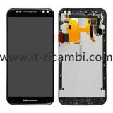 TOUCH + LCD DISPLAY COMPLETO + FRAME PER MOTOROLA MOTO X STYLE XT1575 XT1572 NERO