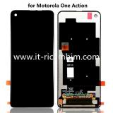 TOUCHSCREEN + DISPLAY LCD DISPLAY COMPLETO SENZA FRAME PER MOTOROLA ONE ACTION XT2013-1 XT2013-2 NERO