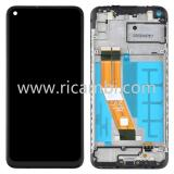 DISPLAY LCD + TOUCHSCREEN DISPLAY COMPLETO + FRAME PER SAMSUNG GALAXY A11 A115F NERO ORIGINALE