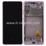 DISPLAY LCD + TOUCHSCREEN DISPLAY COMPLETO + FRAME PER SAMSUNG GALAXY S20 FE 5G G781B ROSA ORIGINALE