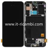 DISPLAY LCD + TOUCHSCREEN DISPLAY COMPLETO + FRAME PER SAMSUNG GALAXY A40 A405F NERO ORIGINALE SERVICE PACK