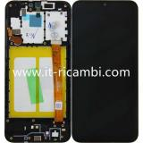 DISPLAY LCD + TOUCHSCREEN DISPLAY COMPLETO + FRAME PER SAMSUNG GALAXY A20e A202F NERO