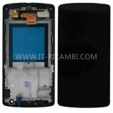 TOUCHSCREEN + DISPLAY LCD DISPLAY COMPLETO + FRAME PER LG D821 D820 NEXUS 5 COLORE NERO