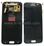 TOUCHSCREEN + DISPLAY LCD DISPLAY COMPLETO SENZA FRAME PER SAMSUNG GALAXY S7 G930F NERO