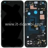 DISPLAY LCD + TOUCHSCREEN DISPLAY COMPLETO + FRAME PER LG Q7 / Q7+ / Q7A 2018 Q610 DUAL SIM NERO