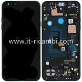 DISPLAY LCD + TOUCHSCREEN DISPLAY COMPLETO + FRAME PER LG Q7 / Q7+ / Q7A 2018 Q610 SIM SINGOLA NERO