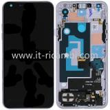 DISPLAY LCD + TOUCHSCREEN DISPLAY COMPLETO + FRAME PER LG Q7 / Q7+ / Q7A 2018 Q610 SIM SINGOLA BIANCO