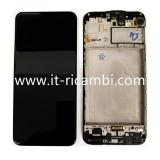 DISPLAY LCD + TOUCHSCREEN DISPLAY COMPLETO + FRAME PER SAMSUNG GALAXY M21 M215F NERO ORIGINALE