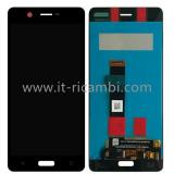 TOUCHSCREEN + DISPLAY LCD DISPLAY COMPLETO SENZA FRAME PER NOKIA 5 NERO