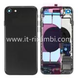 COVER POSTERIORE CON RICAMBI PER APPLE IPHONE 8G 4.7 NERO