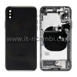 COVER POSTERIORE CON RICAMBI PER APPLE IPHONE XS 5.8 NERO